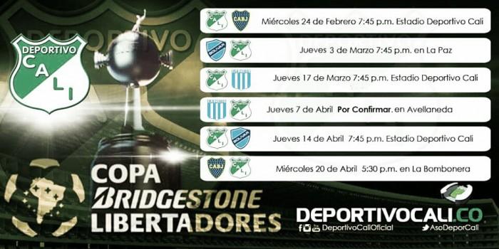 El grupo 3 de la Copa Libertadores está completo