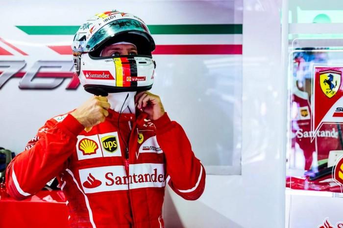 """F1, Ferrari - Vettel: """"Grazie a tutti, l'auto era perfetta. Ora sotto per la gara"""""""