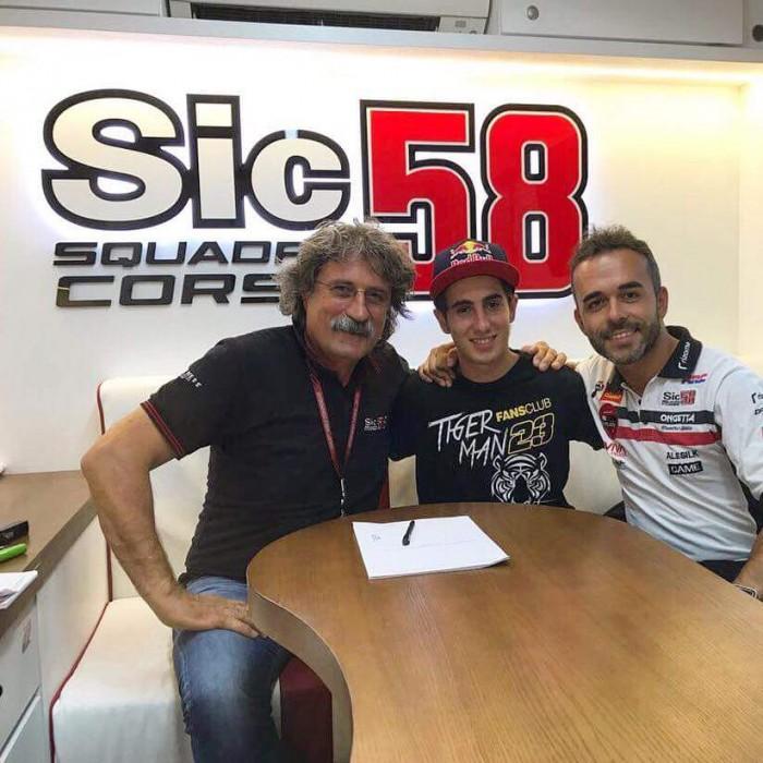 Moto3 - Antonelli con il team di Simoncelli nel 2018