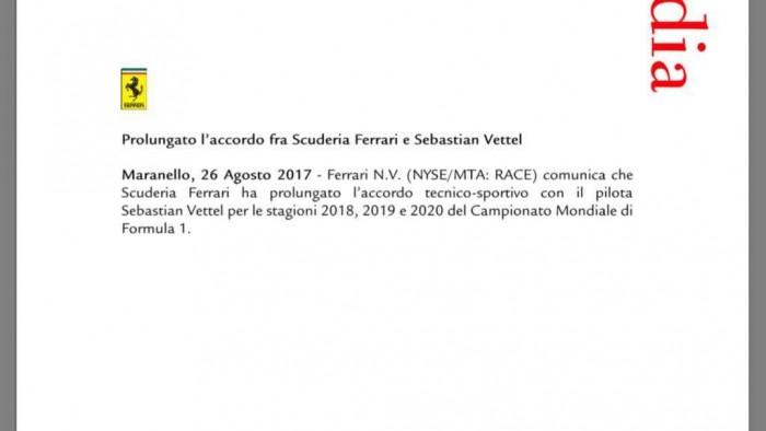 F1, Ferrari - UFFICIALE: Vettel a Maranello fino al 2020
