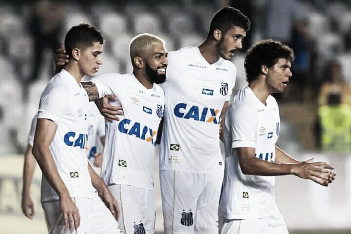 Com três de Gabigol, Santos goleia Luverdense e garante virtual classificação às quartas