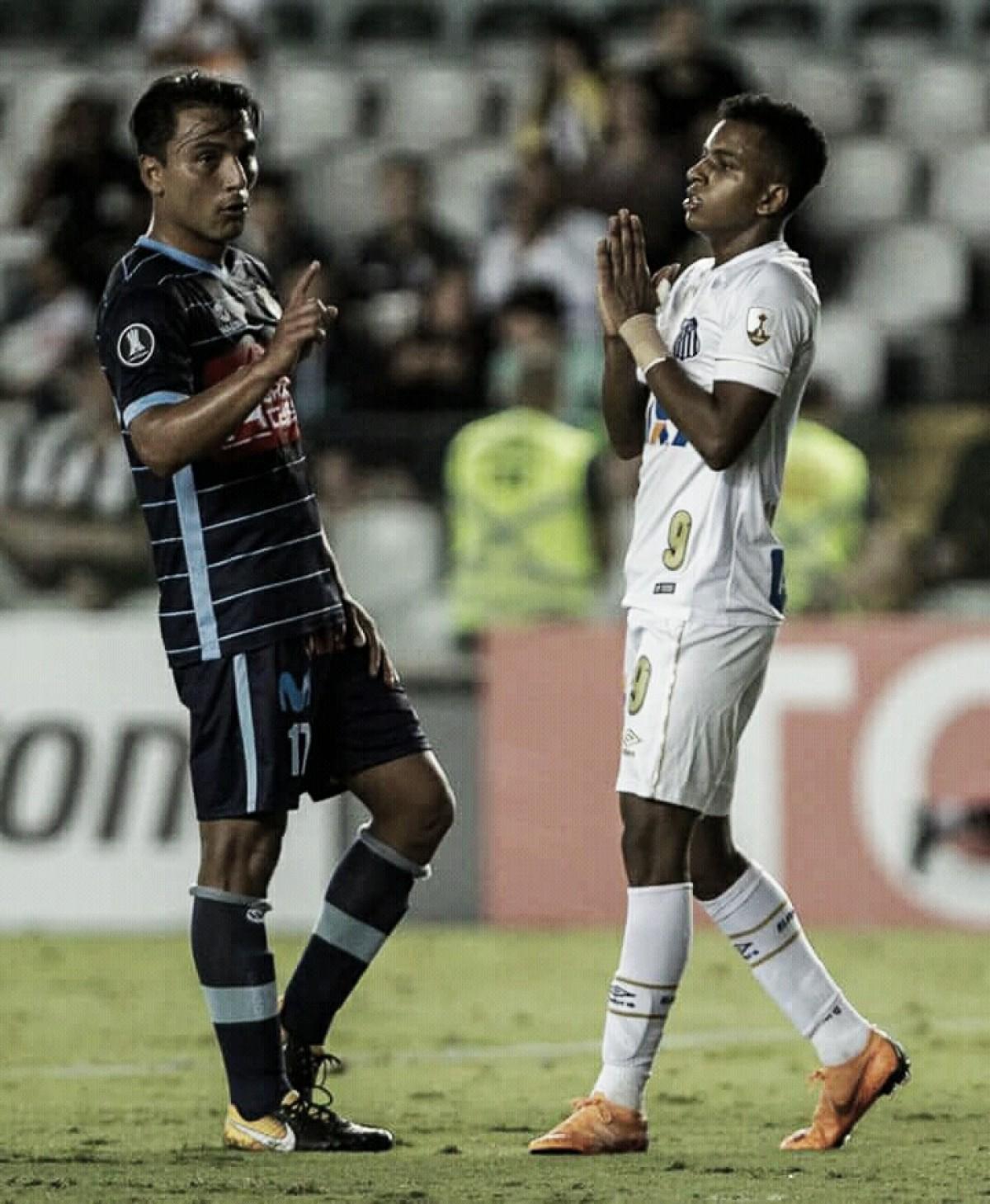 Faltou pontaria! Santos empata sem gols com Real Garcilaso e termina na liderança do grupo