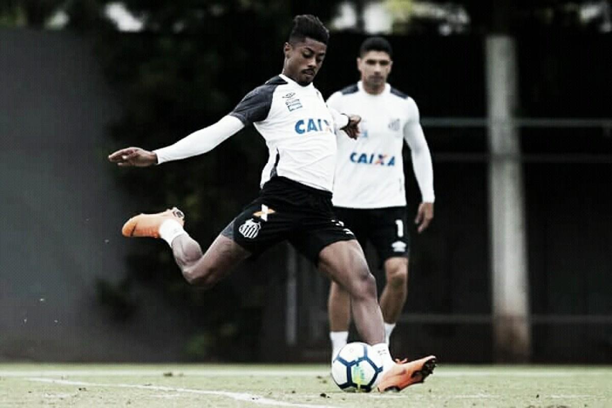 Com trauma na bacia, atacante Bruno Henrique pode desfalcar Santos diante do Atlético-PR