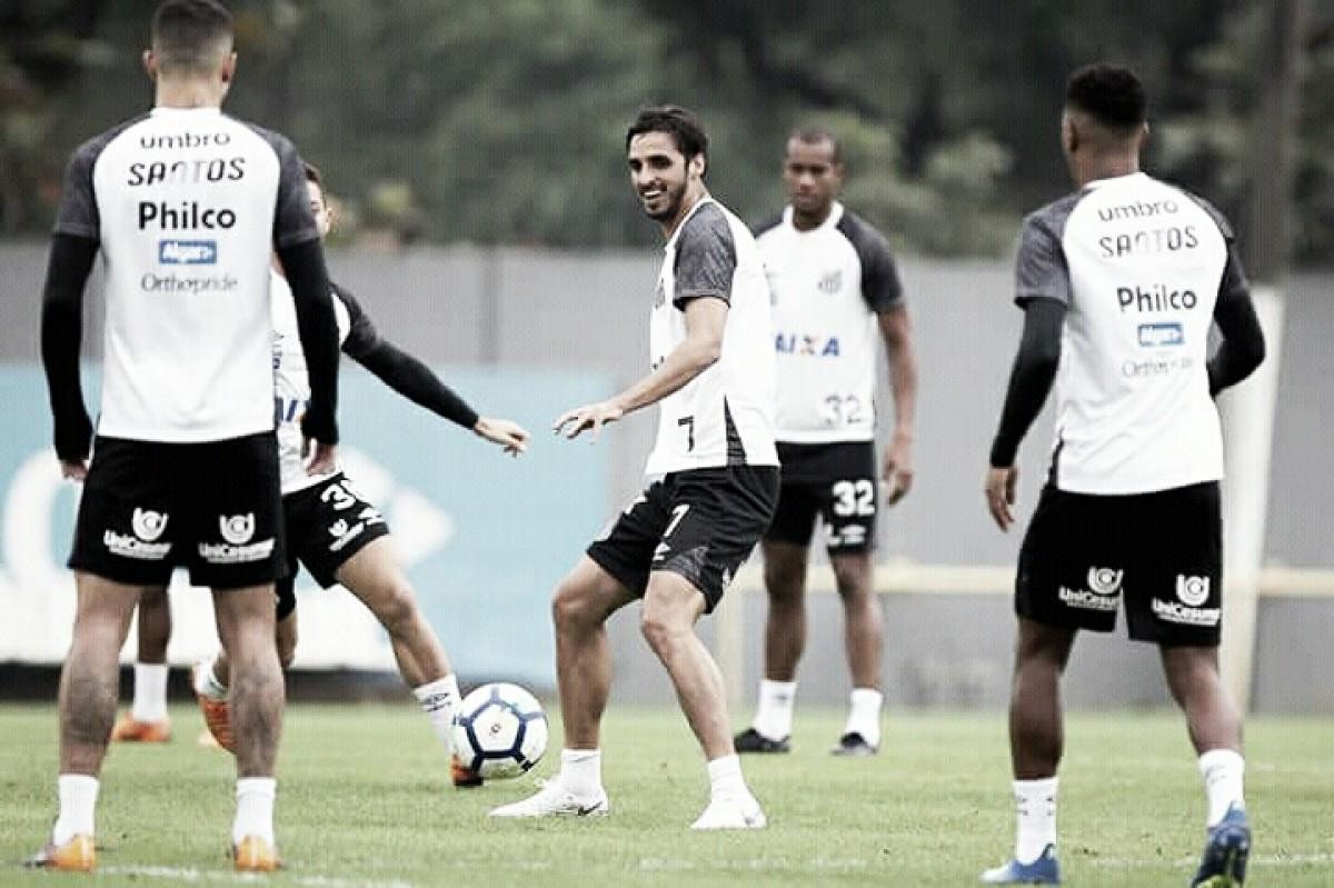 Por desgaste físico, Santos pode poupar alguns jogadores contra Atlético-MG
