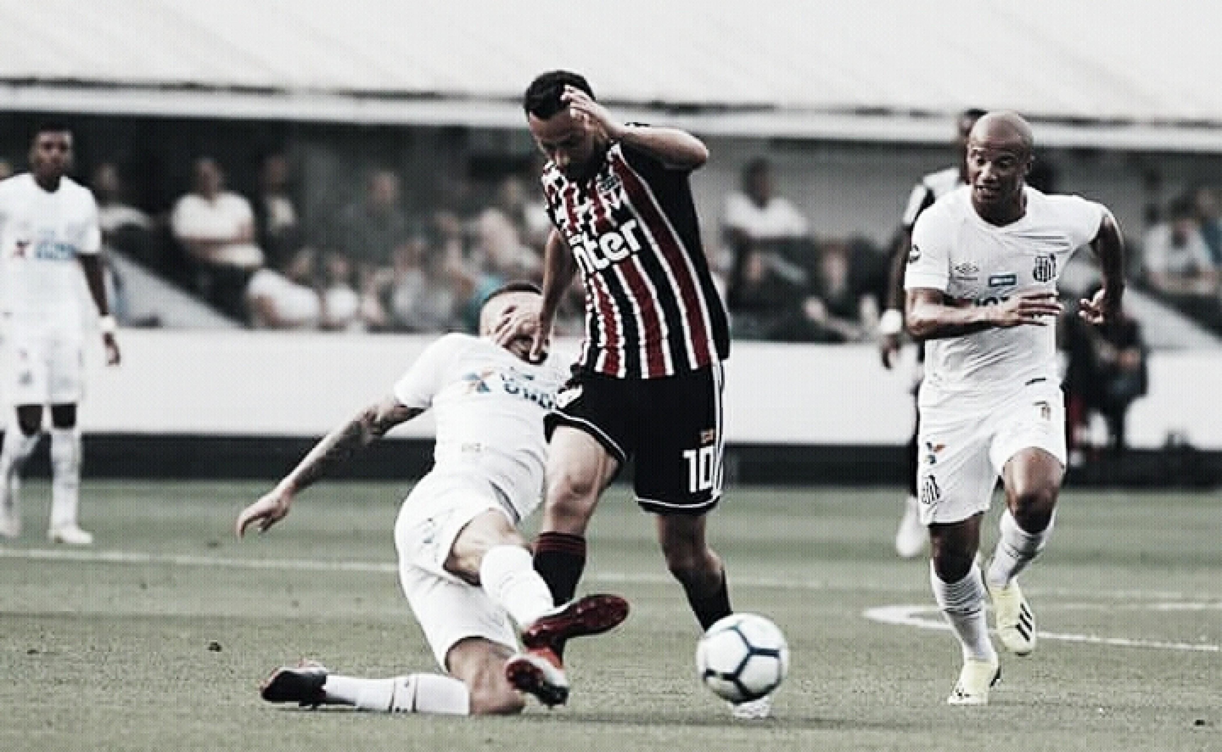 Com poucas chances de gols, Santos e São Paulo empatam naVila Belmiro