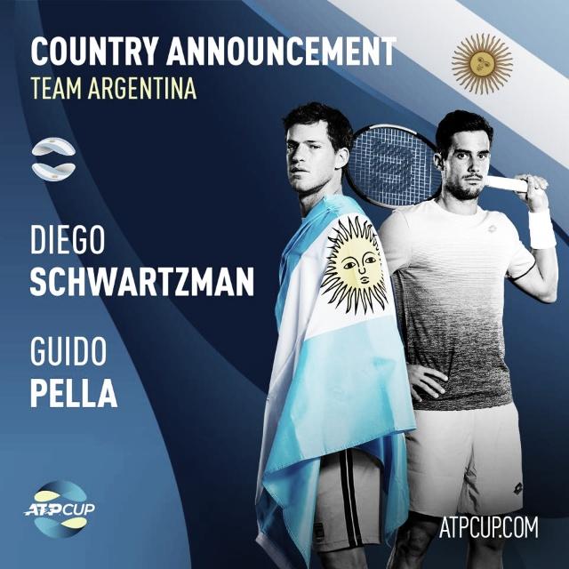 ¿En qué grupo quedó Argentina tras el sorteo de la ATP Cup?