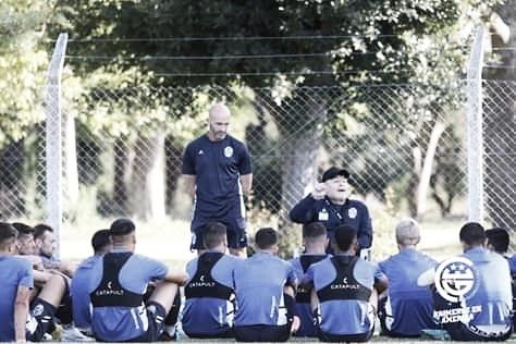 Maradona apuesta al hermetismo de cara al duelo con el Canalla.<div>Foto Club Gimnasia y Esgrima La Plata&nbsp;</div>