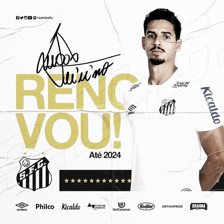 Santos anuncia renovação com zagueiro Lucas Veríssimo