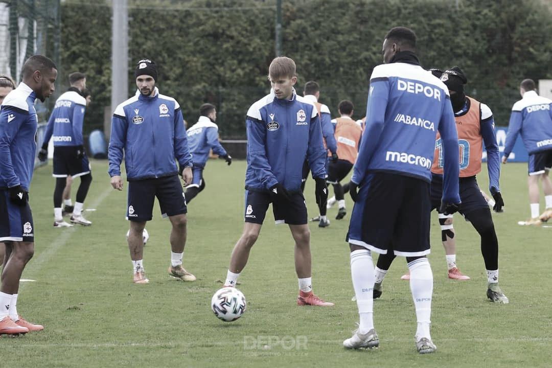 Gandoy y Uche, novedades en el segundo entrenamiento del año
