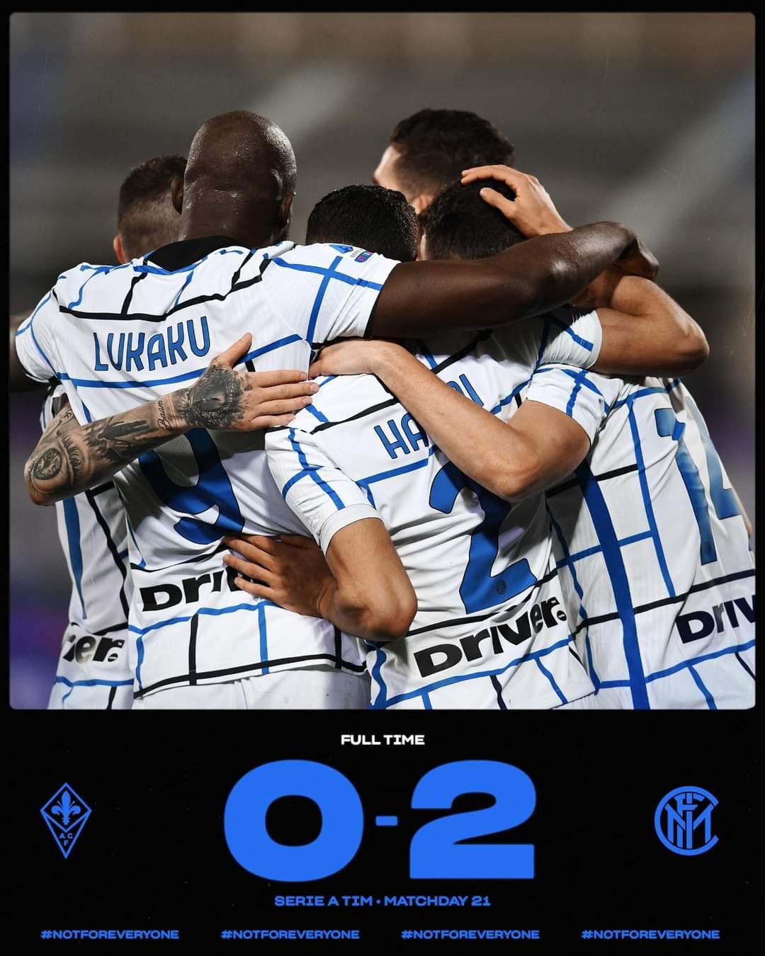 Serie A, l'Inter espugna il campo della Fiorentina