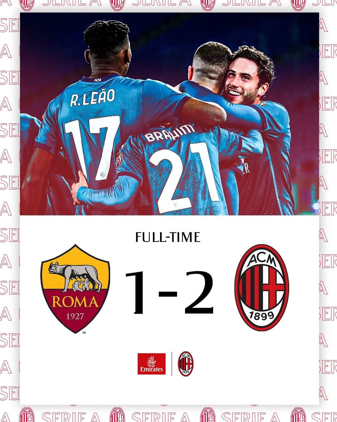 Serie A, il Milan espugna lo Stadio Olimpico