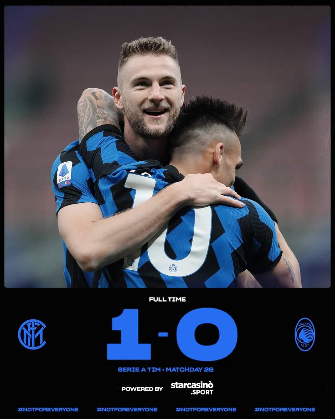 Serie A, l'Inter batte anche l'Atalanta e prova la fuga