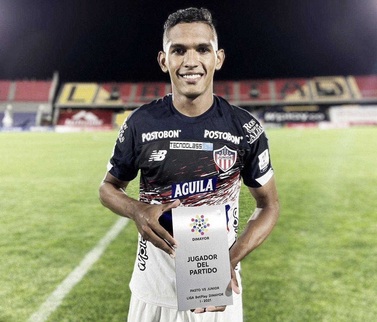 Homer Martínez, el destacado en el Junior en el empate contra el Pasto