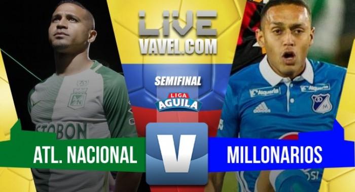 En el tiempo de descuento, con gol de Dayro Moreno, Atlético Nacional se clasificó a la final de la Liga Águila