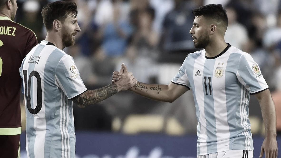 Messi y Agüero, titulares en la victoria de Argentina