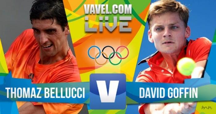 Thomaz Bellucci x David Goffin no tênis masculino dos Jogos Olímpicos