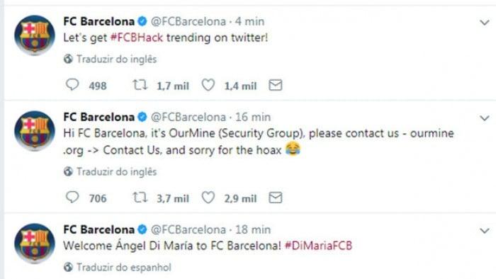 Que fase! Hackers invadem Twitter do Barcelona e anunciam Di María