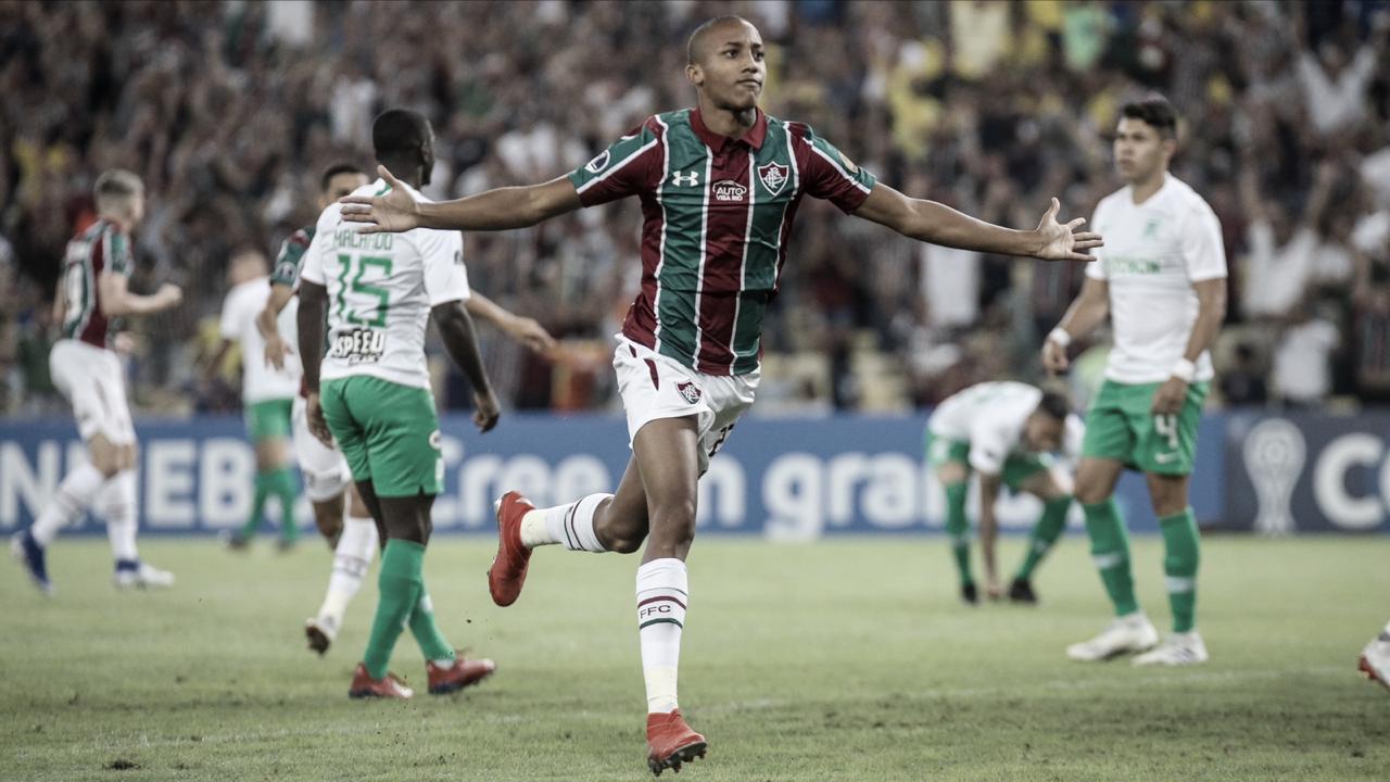 Fluminense atropela Atlético Nacional com três de João Pedro