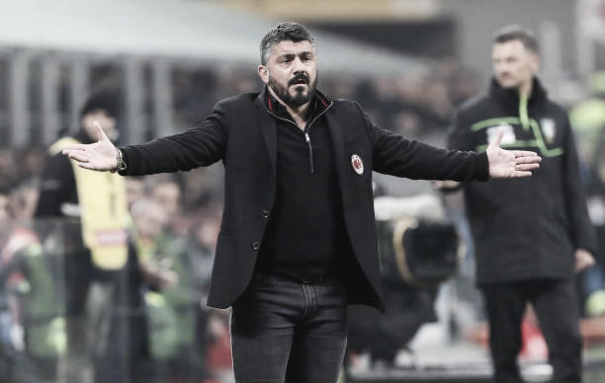 """Gattuso se mostra satisfeito com empate: """"Atuação de hoje pode ajudar a equipe a melhorar"""""""