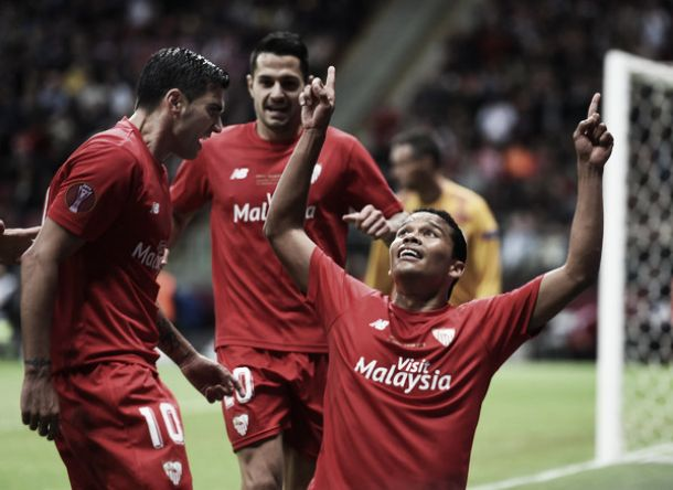 Sevilla 3-2 Dnipro: Bacca with a brace as holders win second consecutive Europa League title