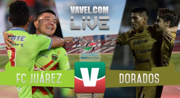 Resultado del Juárez 1-0 Dorados de la Semifinal del Ascenso MX 2017