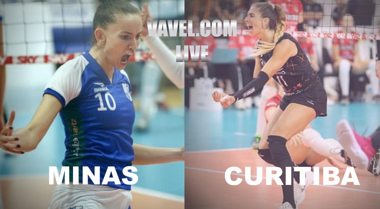 Resultado Minas x Curitiba Vôlei pela Superliga Feminina (3x0)