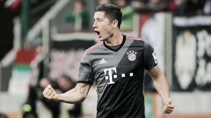 """Lewandowski valoriza empenho coletivo do Bayern: """"Jogamos bem desde o primeiro minuto"""""""