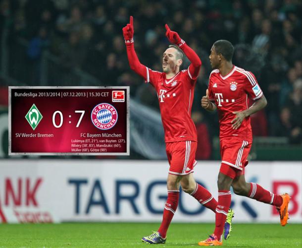 Le Bayern et Ribéry humilient le Werder!