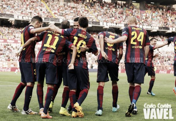 Partido Ajax 0-2 Barcelona en fase de grupos Champions League 2014