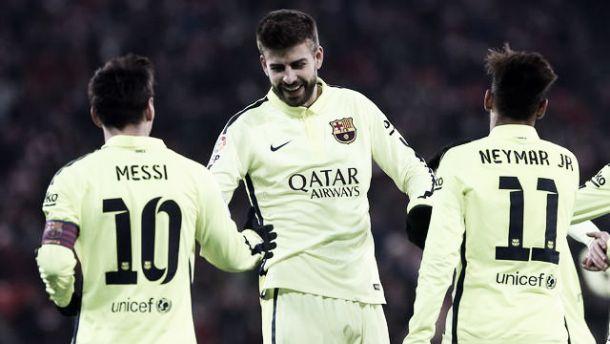 Paris Saint Germain 1-3 Barcelona: Superb Barca put one foot in the semis
