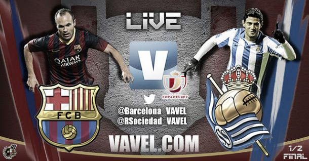 Resultado Barcelona - Real Sociedad en semifinales de la Copa del Rey 2014 (2-0)
