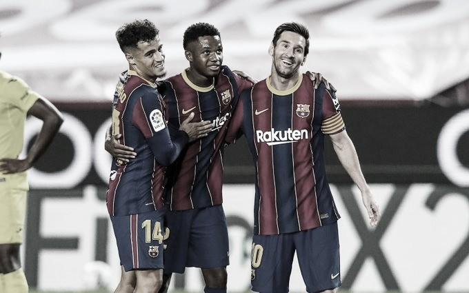 Na estreia de Koeman, Barcelona goleia Villarreal com dois gols de Ansu Fati