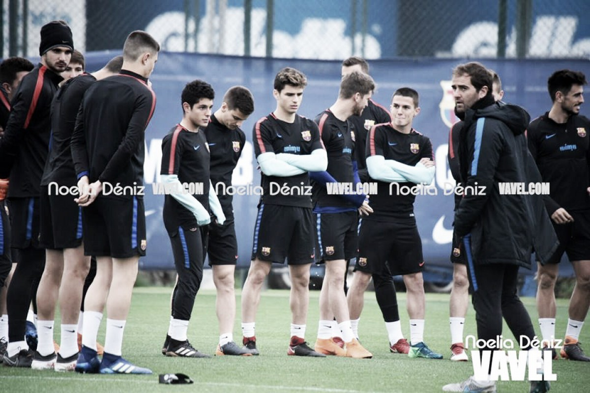 El Barcelona 'B' se entrena antes de la final en Huesca