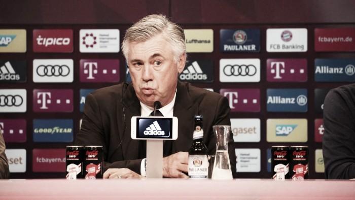 """Ancelotti analisa tropeço do Bayern em casa e declara: """"Estamos desapontados"""""""
