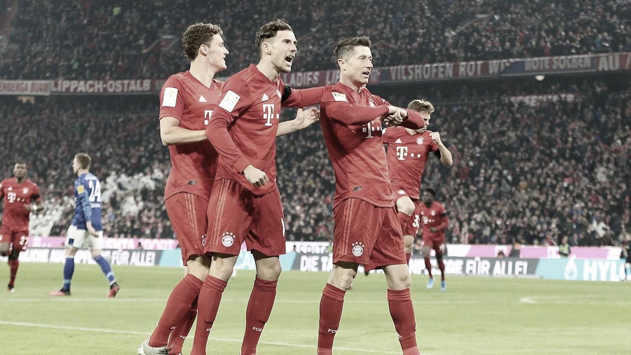 Bayern de Munique atropela Schalke 04 e sobe ao segundo lugar da Bundesliga