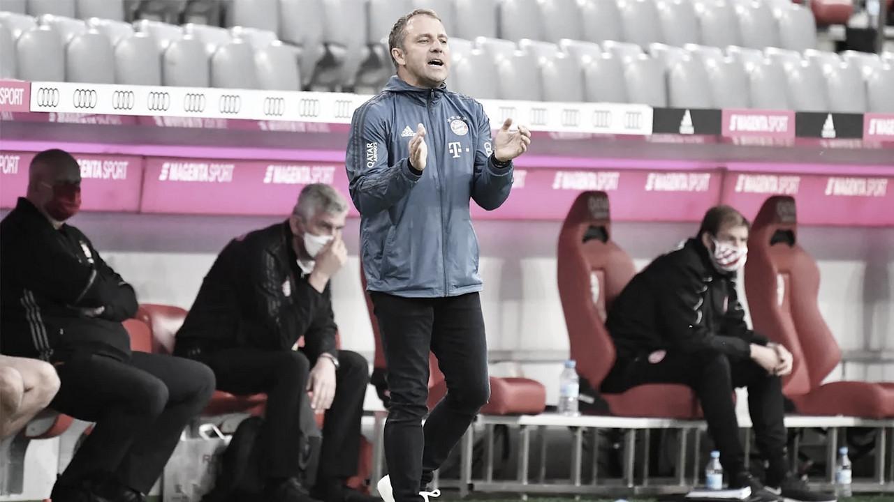 Hansi Flick comemora atuação dominante do Bayern em goleada sobre Fortuna Düsseldorf