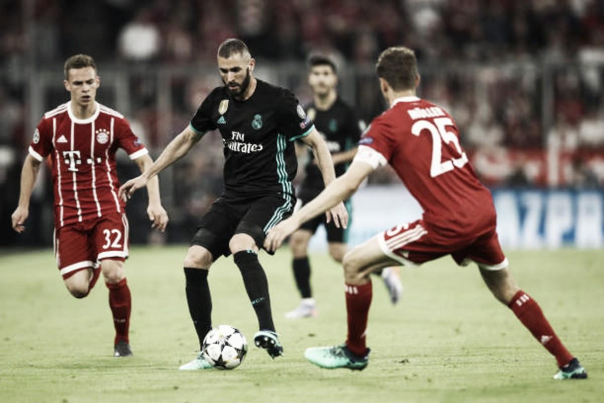 Em vantagem, Real Madrid enfrenta Bayern em busca de terceira final seguida de UCL