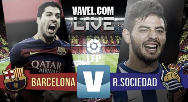 FC Barcelona vs Real Sociedad Live Stream Score Commentary of La Liga 2015 (4-0)