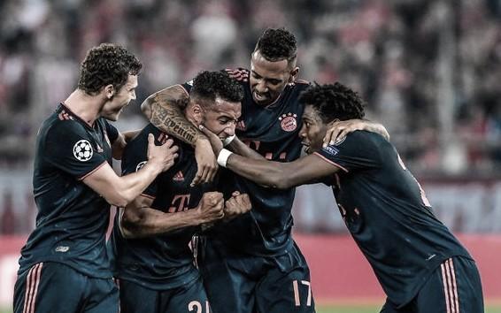 Bayern sai atrás, mas vence Olympiacos na Grécia pela Champions League
