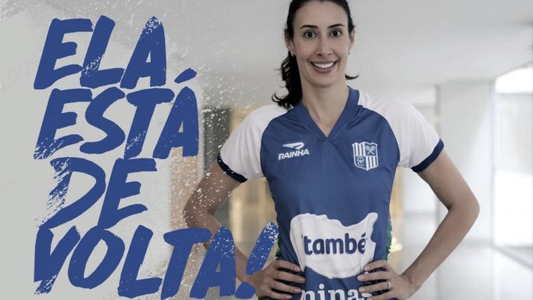 Boa filha a casa torna! Itambé/Minas confirma retorno de Sheilla após 15 anos