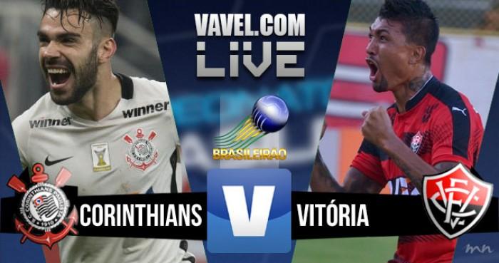 Resultado Corinthians x Vitória pelo Campeonato Brasileiro 2016 (2-1)