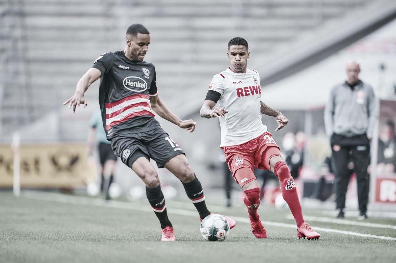Colônia perde pênalti, mas se recupera no final e busca empate com Fortuna Düsseldorf