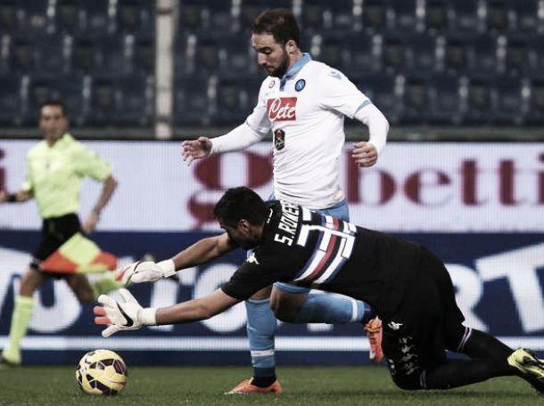 Resultado Nápoles vs Sampdoria en la Serie A 2015 (4-2)