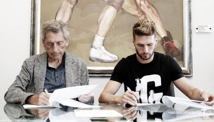 Zagueiro Sergi Gómezrenova com Celta de Vigo até 2019