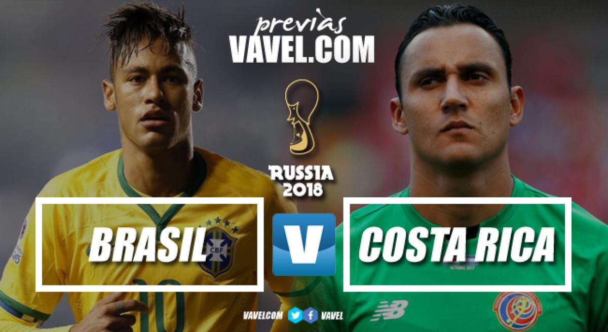 Com retrospecto favorável, Brasil enfrenta Costa Rica em busca da primeira vitória na Copa