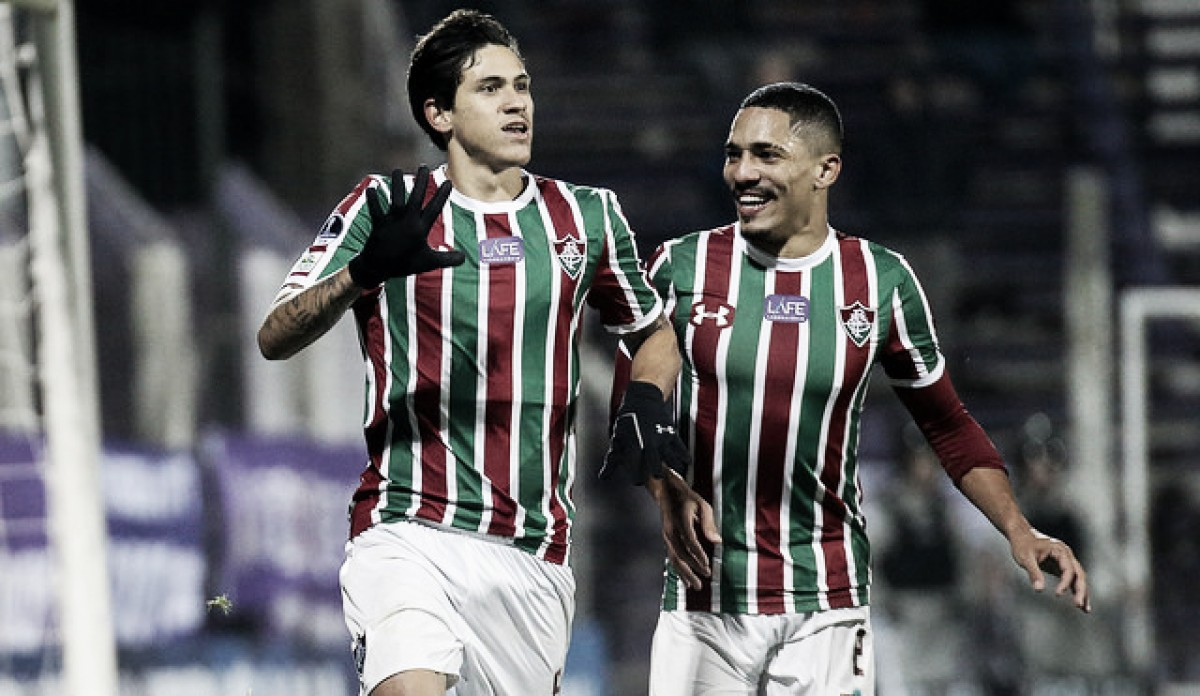 Na véspera da convocação de Tite, Pedro marca e Fluminense se classifica na Sul-Americana