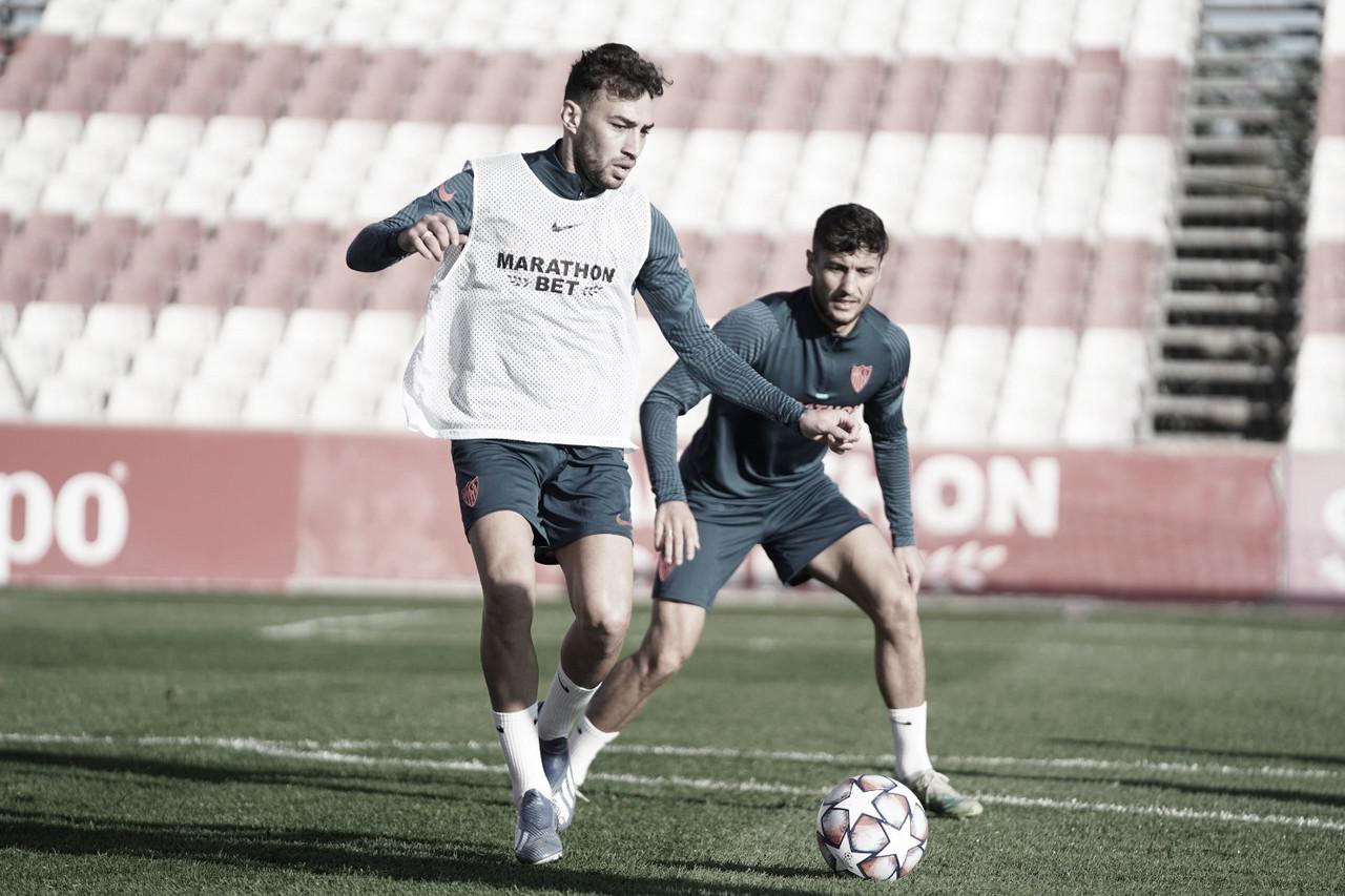 Entrenamiento previo al encuentro ante el Krasnodar   Foto: Sevilla FC