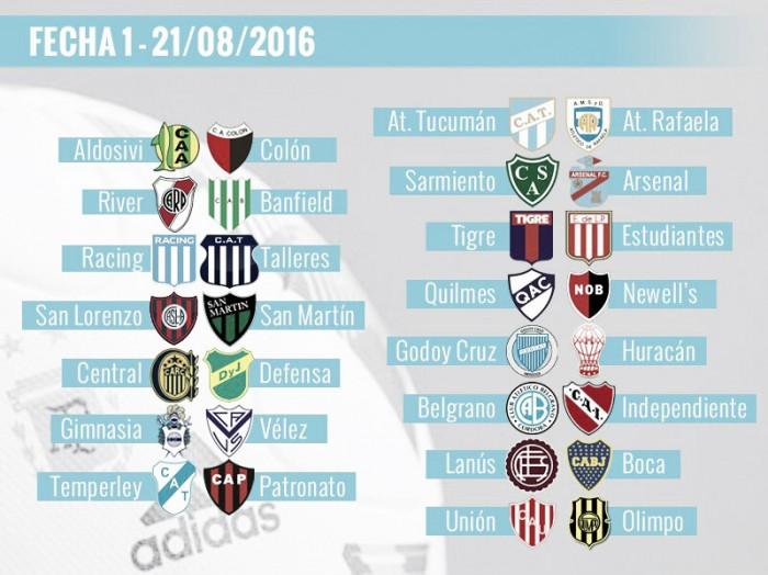 Se sorteó el fixture del Torneo de Primera de 2016/2017