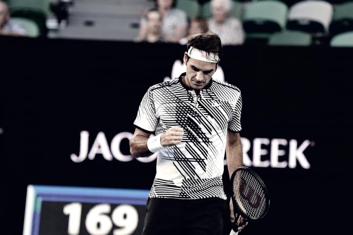 Australian open, Roger Federer ai quarti di finale