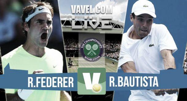Live Bautista Agut - Federer, risultato ottavi di finale Wimbledon 2015  (0-3)